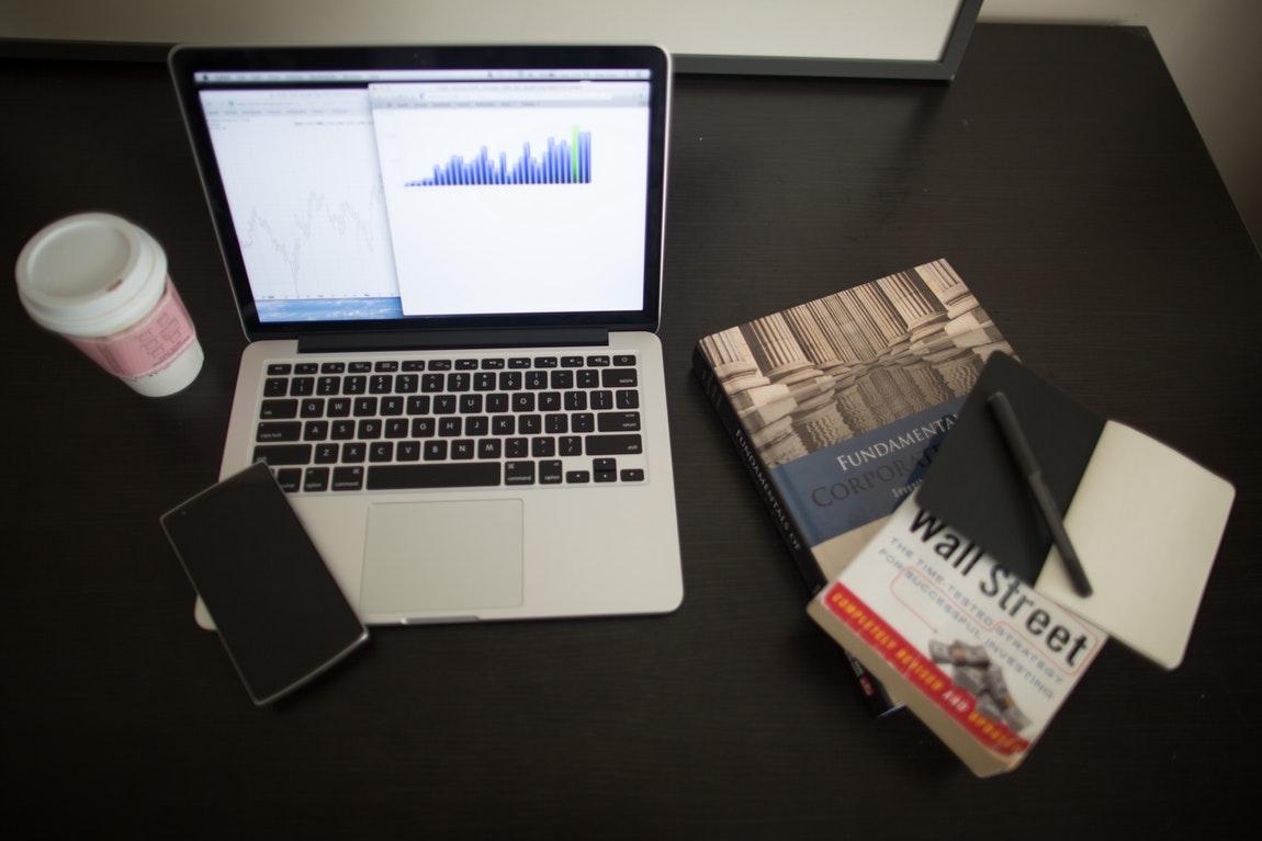 Wall Street Laptop Coffee