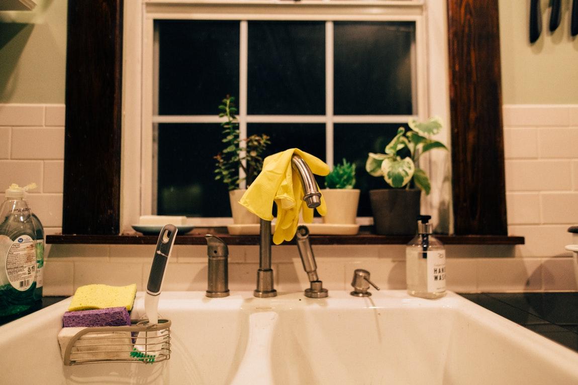 Yellow Towel Faucet