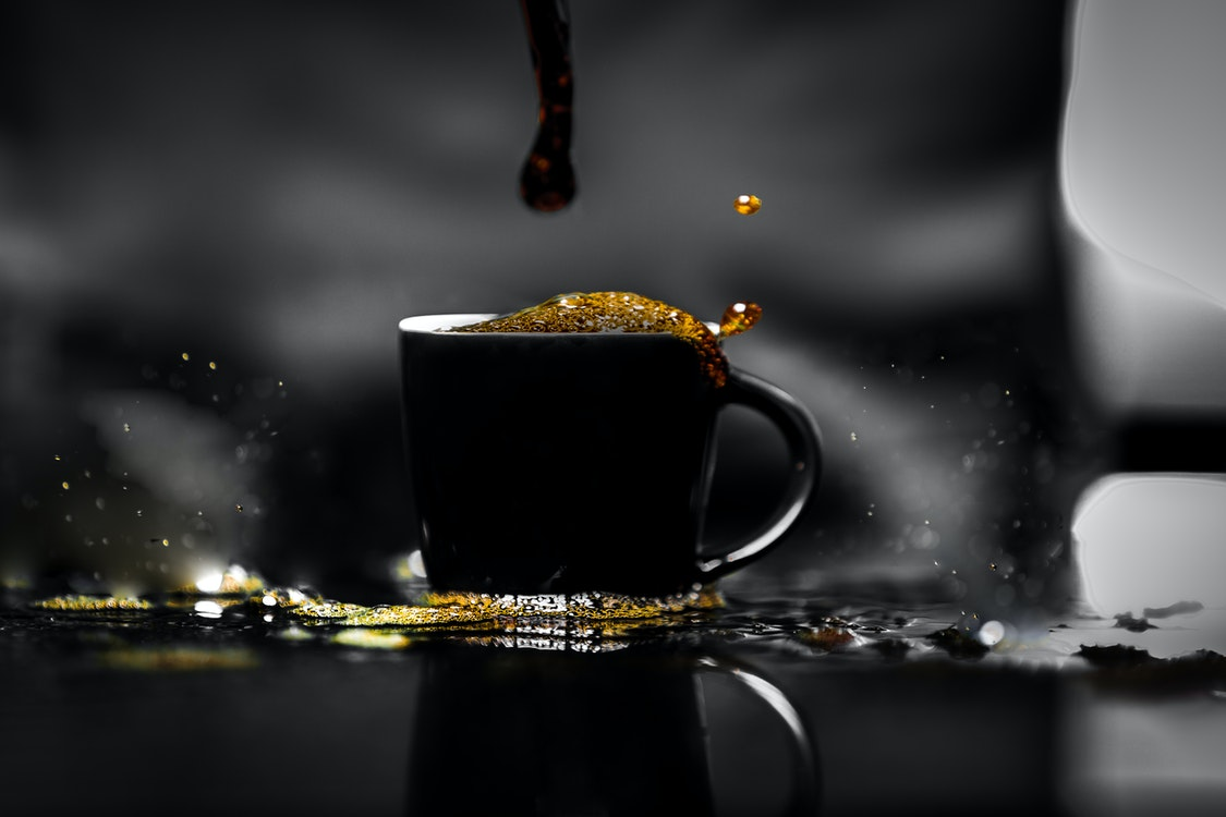 dripping coffee